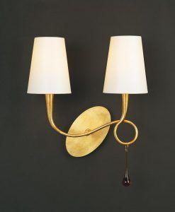 Aplique clásico dos luces PAOLA
