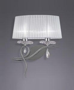 Aplique diseño elegante con 2 luces LOUISE