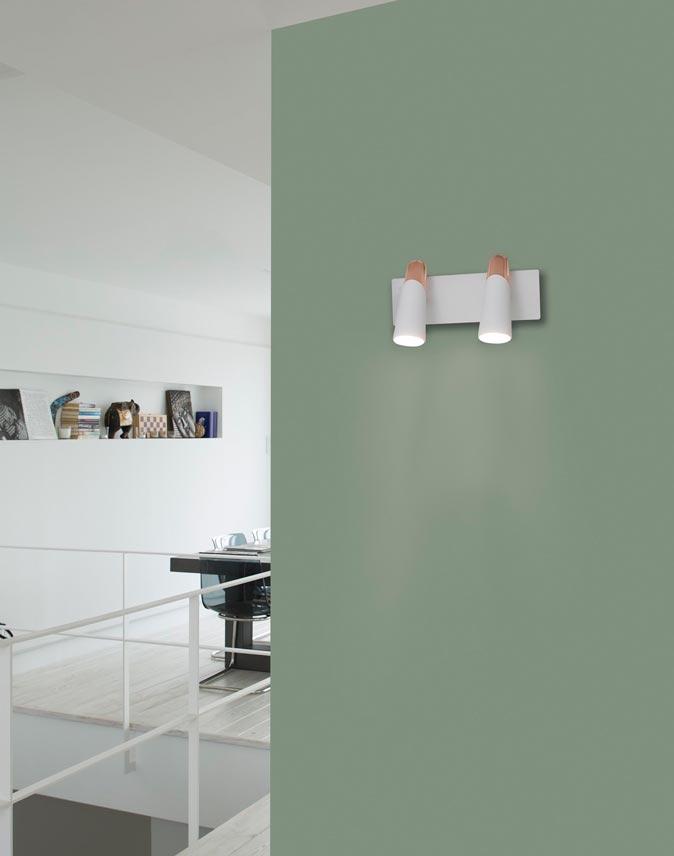 Aplique dos luces minimalista LAO LED ambiente