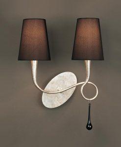 Aplique elegante dos luces PAOLA