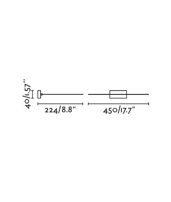 Medidas aplique iluminacuadro LED 8W MAGRITTE-2