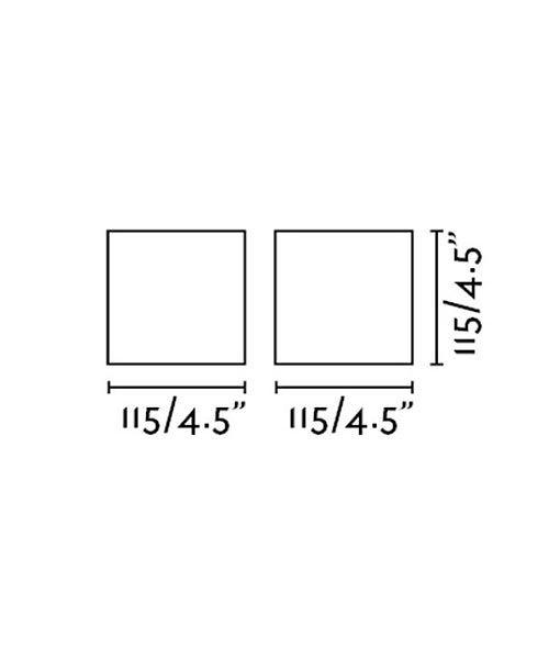 Medidas aplique minimalista gris KAMEN