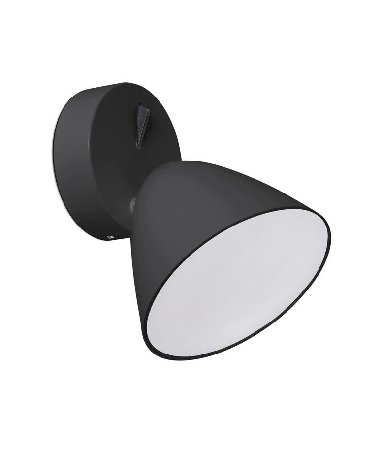 Aplique moderno negro con luz LED FLASH