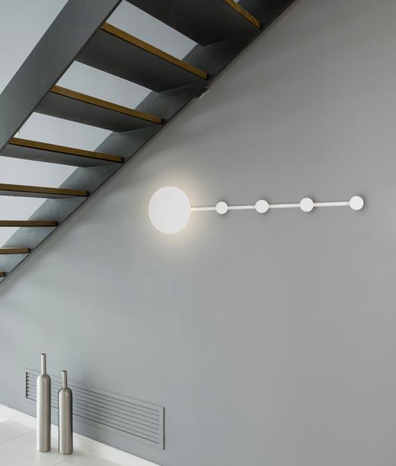 Lámpara aplique y perchero HAN LED ambiente