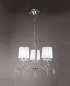 Lámpara colgante 3 luces LOUISE