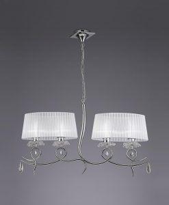 Lámpara colgante 4 luces LOUISE