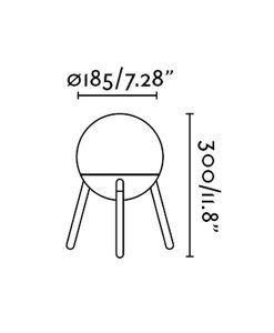 Medidas lámpara de diseño blanca MINE