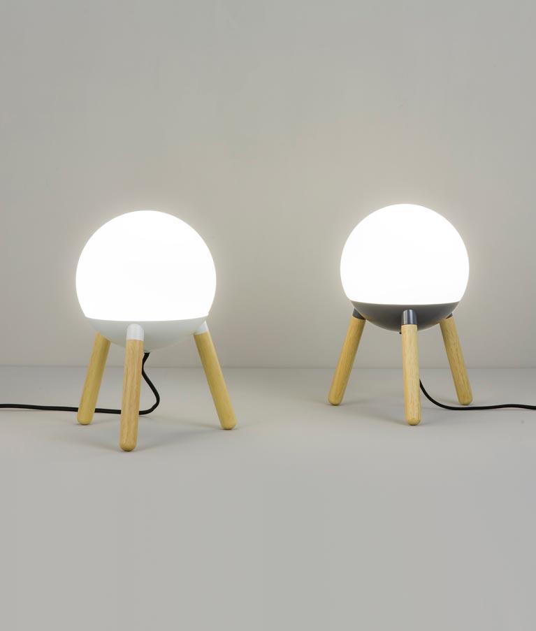 Lámpara de diseño blanca MINE modelos