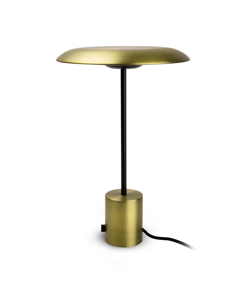 Lámpara de mesa oro satinado y negra HOSHI LED