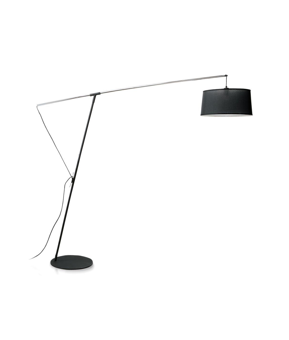 Lámpara de pie negra 1 luz NORDICA