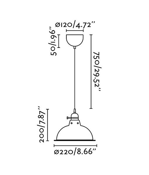 Medidas lámpara de techo beige PEPPER