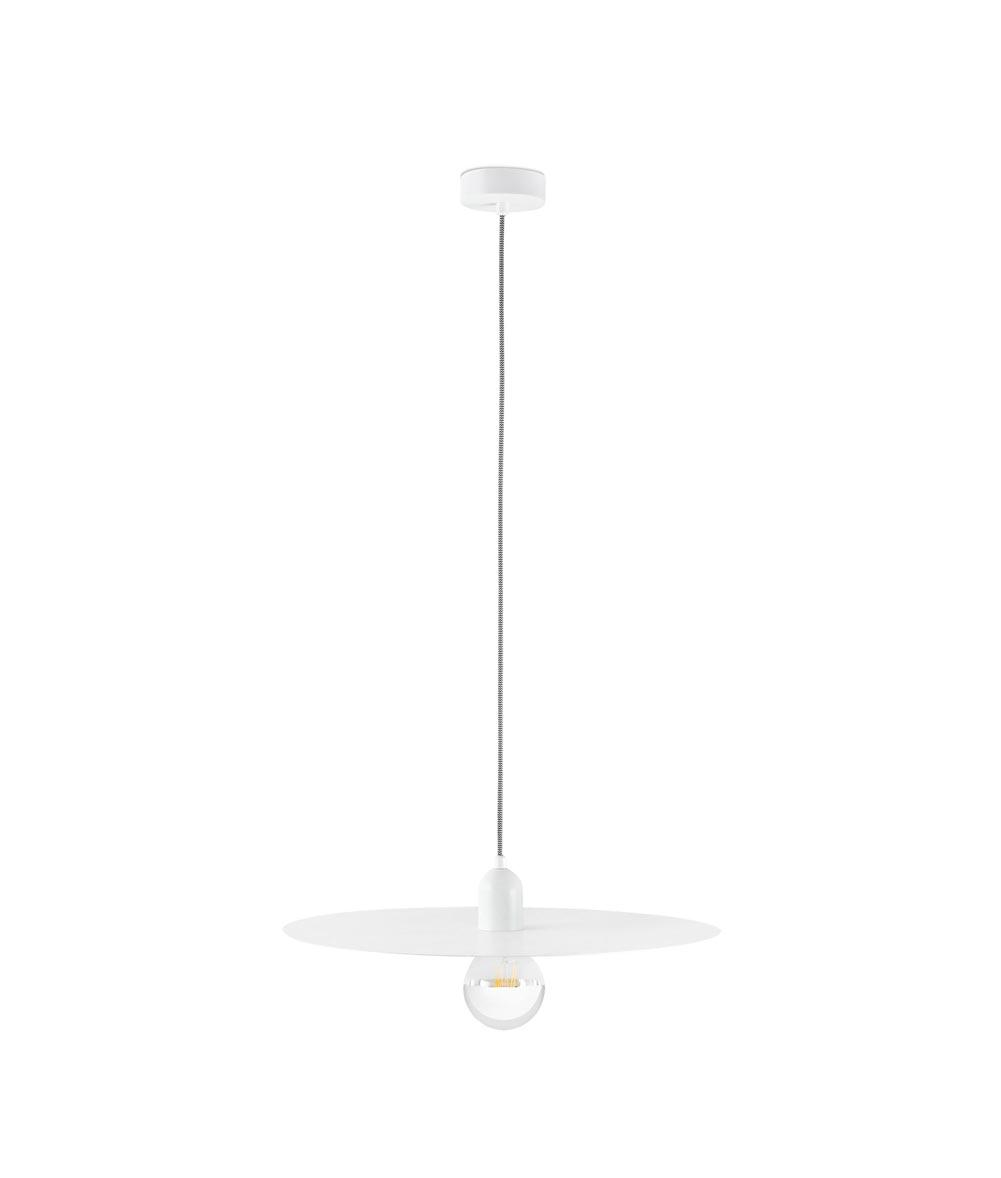 Lámpara de techo minimalista blanca PLAT