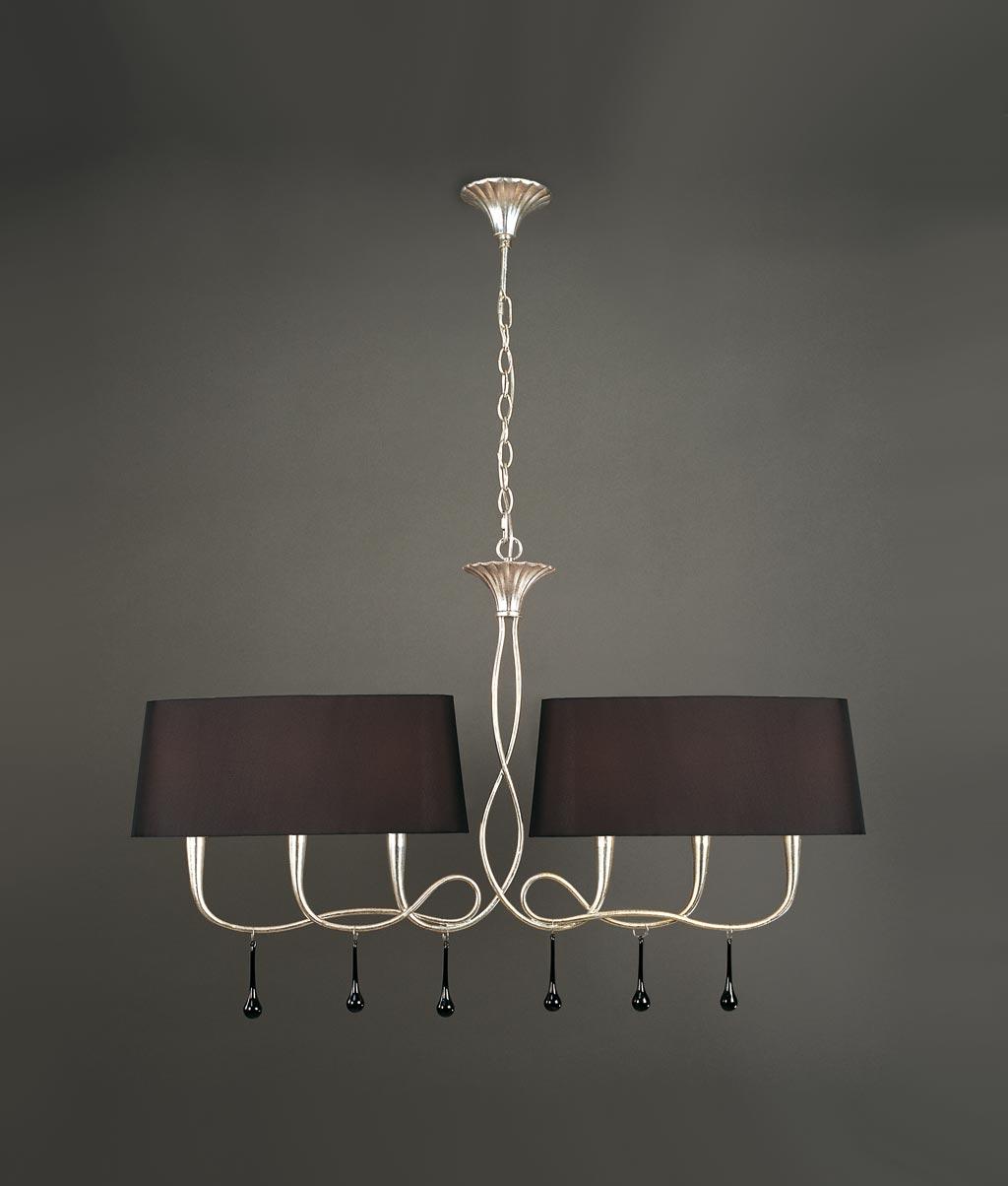 Lámpara de techo negra y plata PAOLA