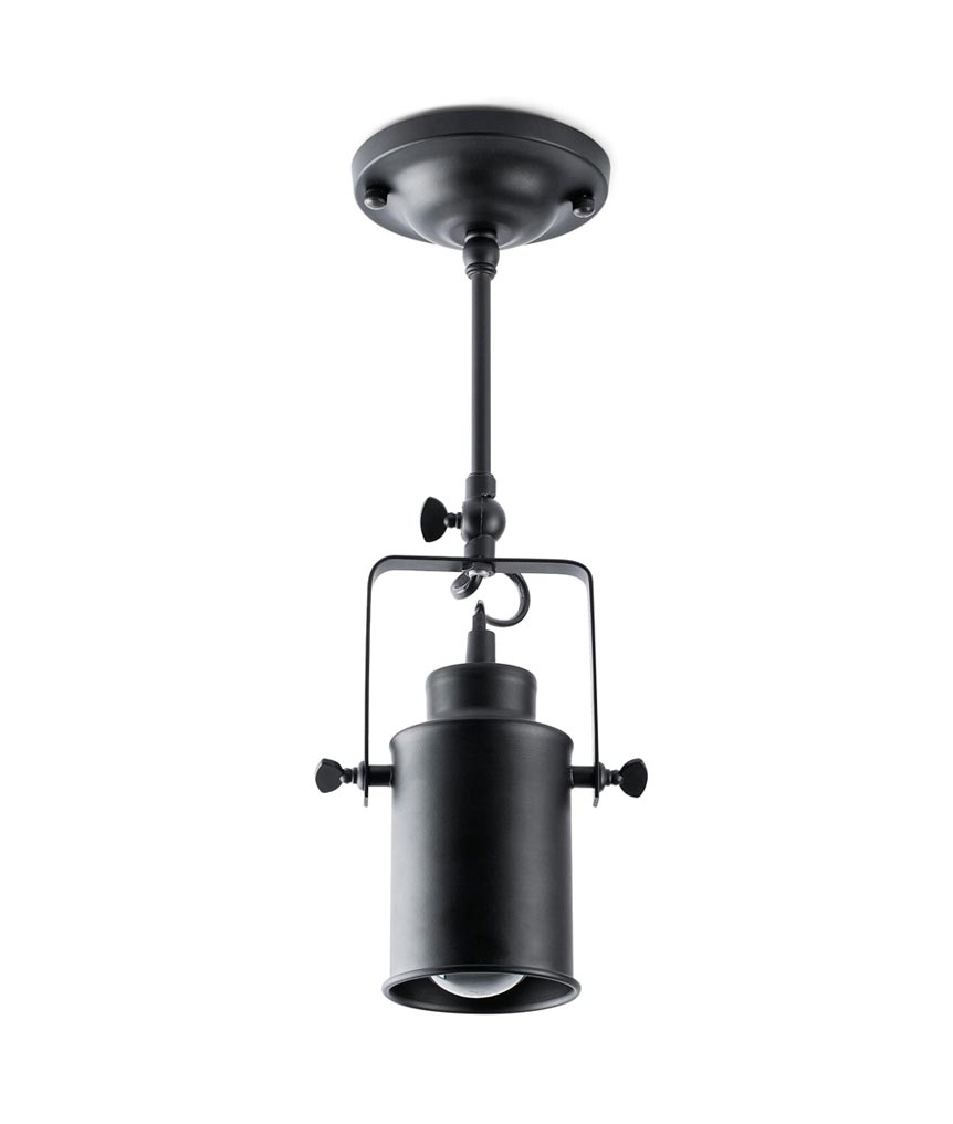 Lámpara foco estilo industrial LIST detalle