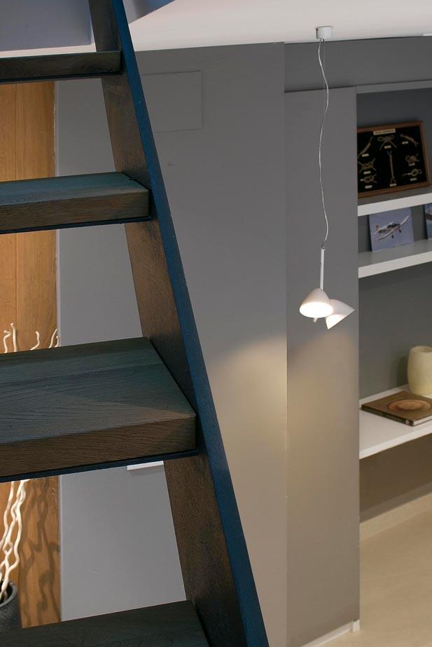 Lámpara LED con dos luces FLASH ambiente