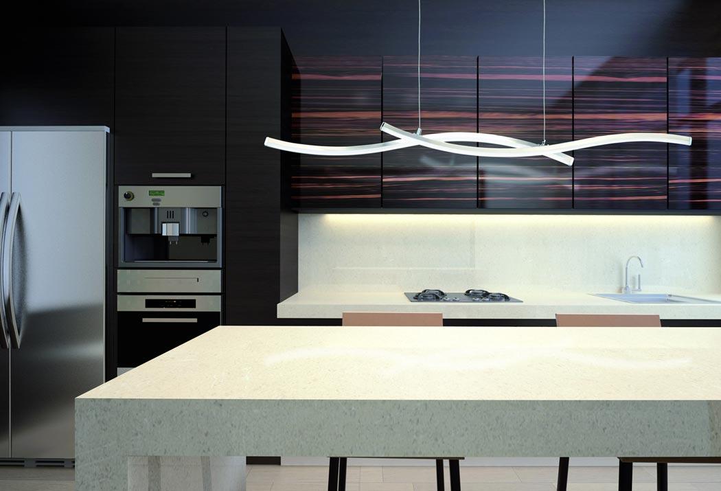 L mpara minimalista led surf la casa de la l mpara for Lampara de piso minimalista