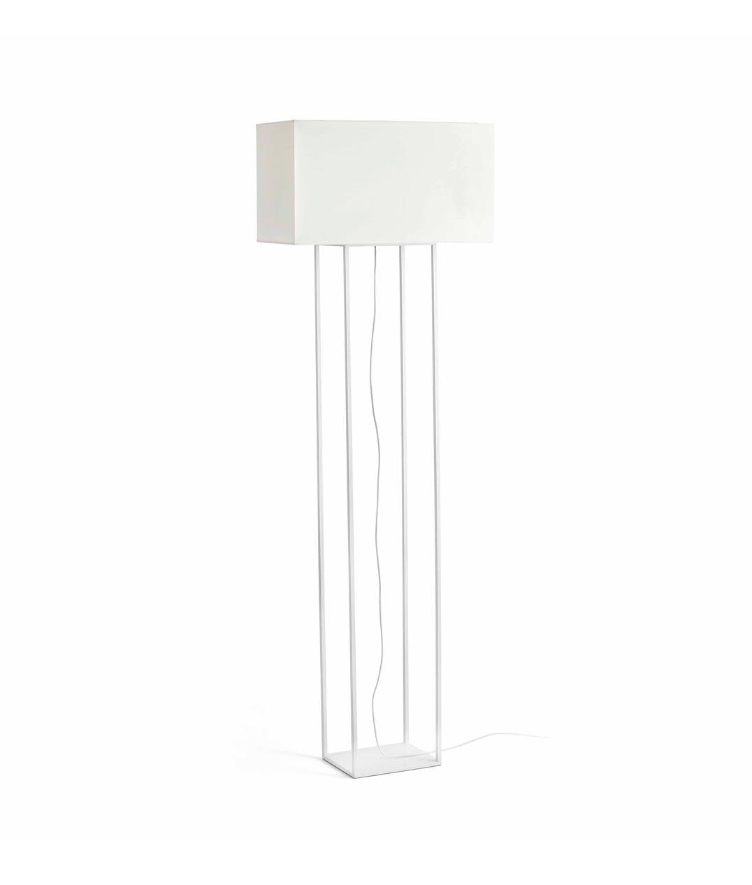 Lámpara pie de salón blanco VESPER