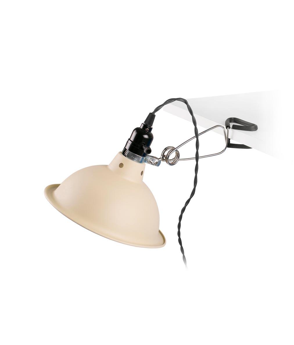 Lámpara pinza beige PEPPER detalle