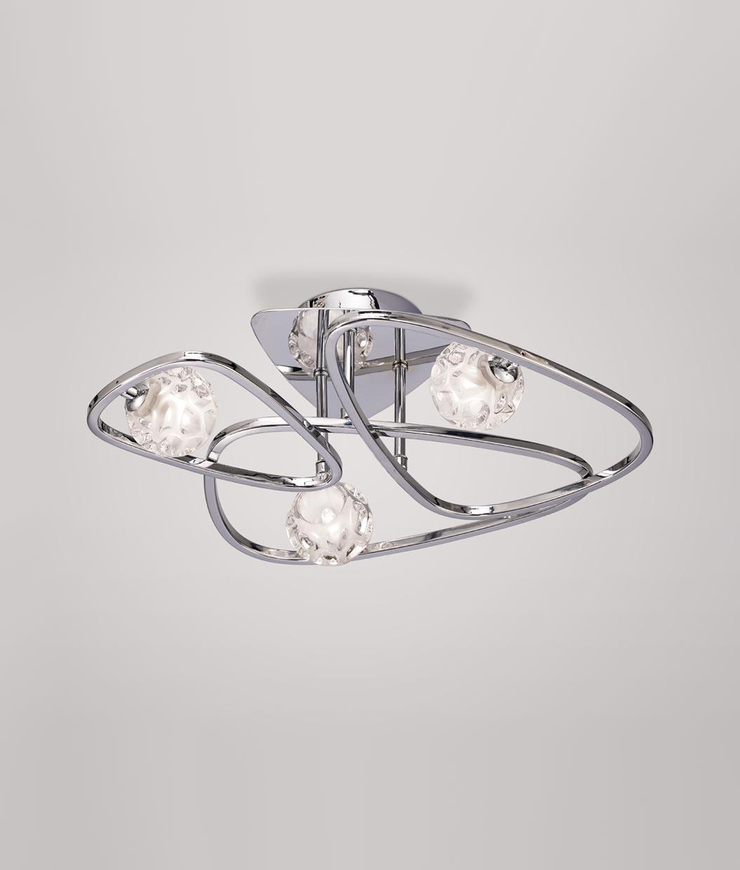 DESCATALOGADA lámpara plafón de diseño cromo LUX
