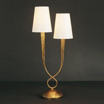 Lámpara sobremesa clásica 2 luces PAOLA