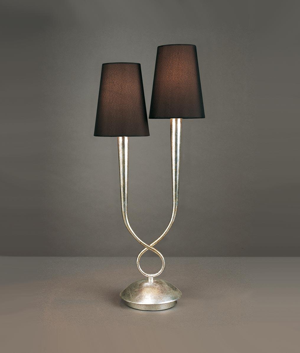 Lámpara sobremesa elegante 2 luces PAOLA