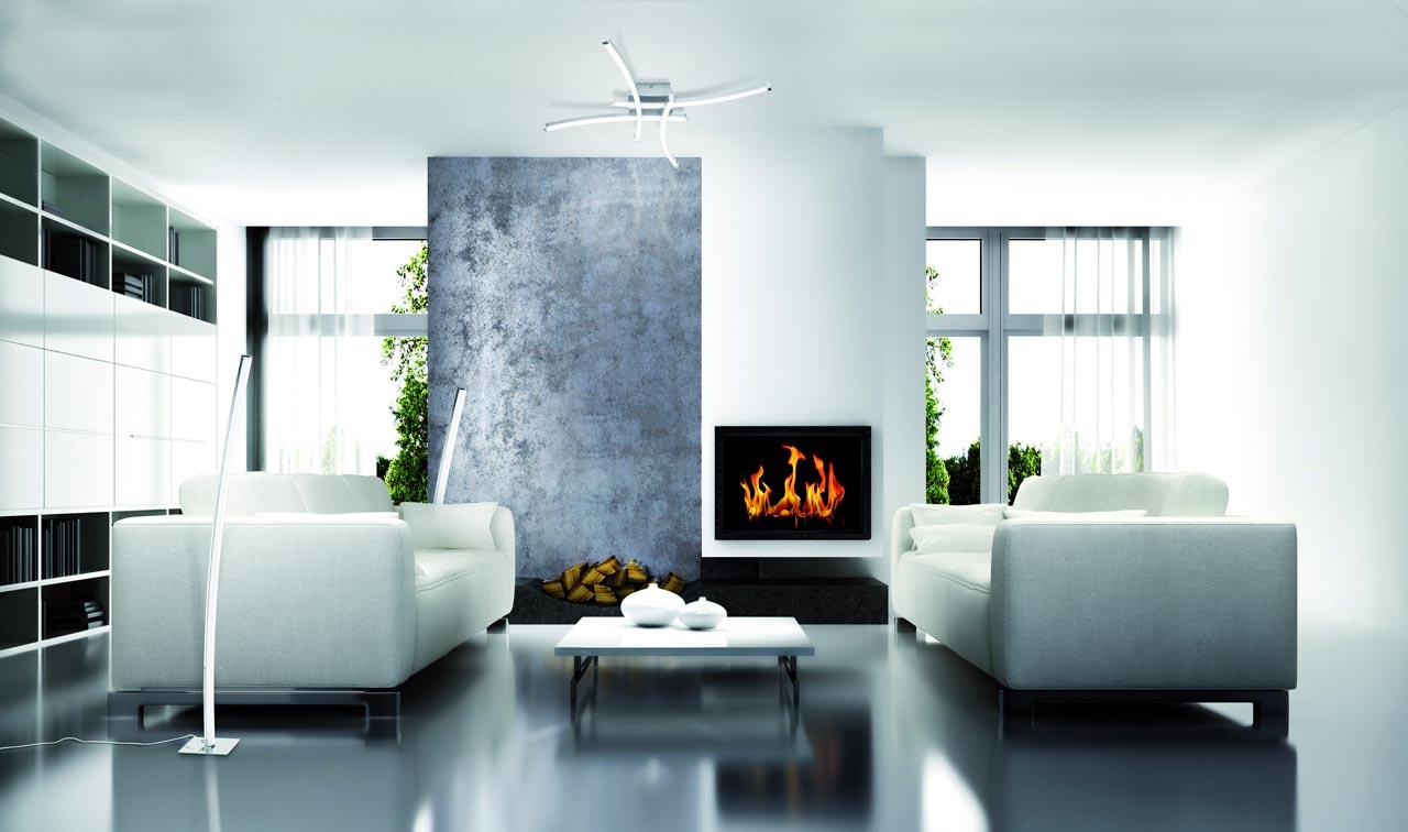 Plaf n minimalista led surf la casa de la l mpara for Casa minimalista living