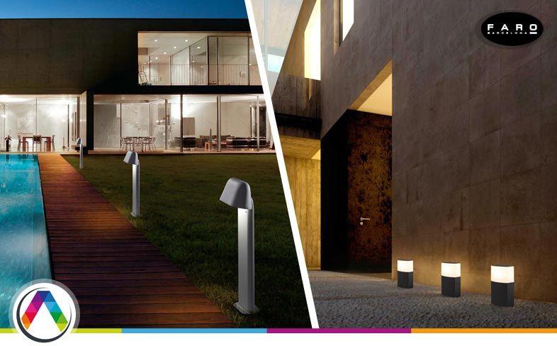 Consejos en iluminación exterior del jardín, porche o terraza - La Casa de la Lámpara