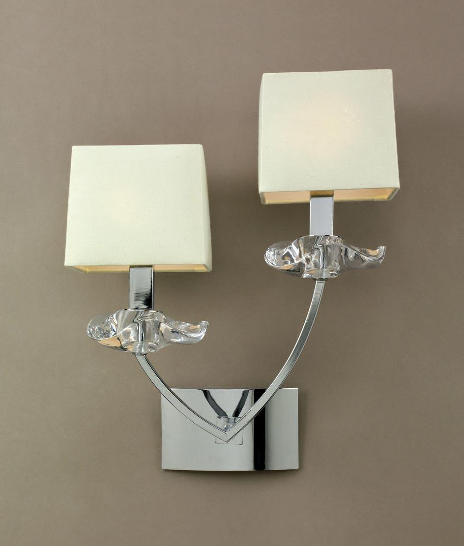 Aplique pared sofisticado 2 luces AKIRA detalle