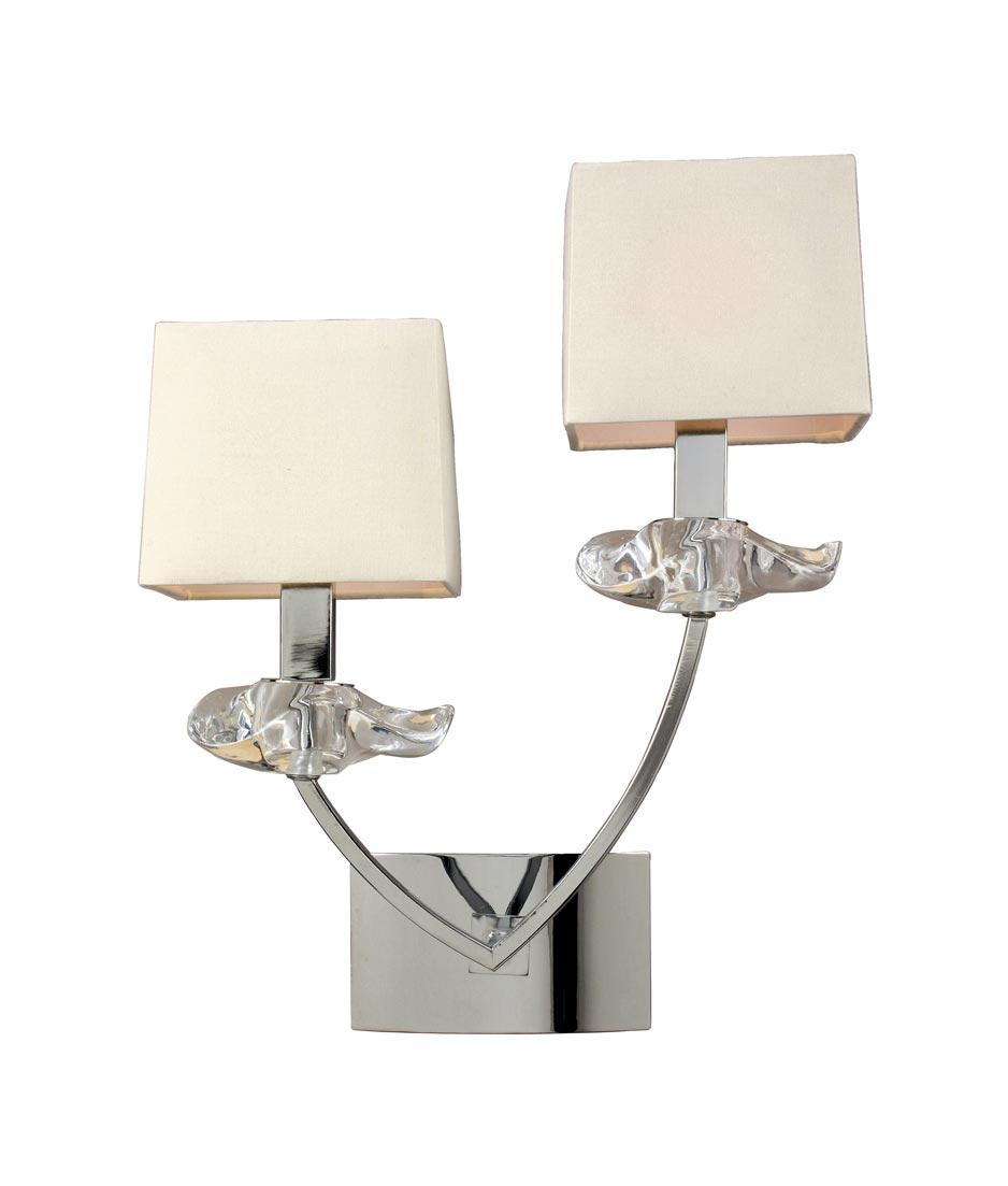 Aplique pared sofisticado 2 luces akira la casa de la - Casa de las lamparas ...