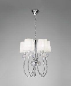 Colgante cromo 5 luces LOEWE - La Casa de la Lámpara