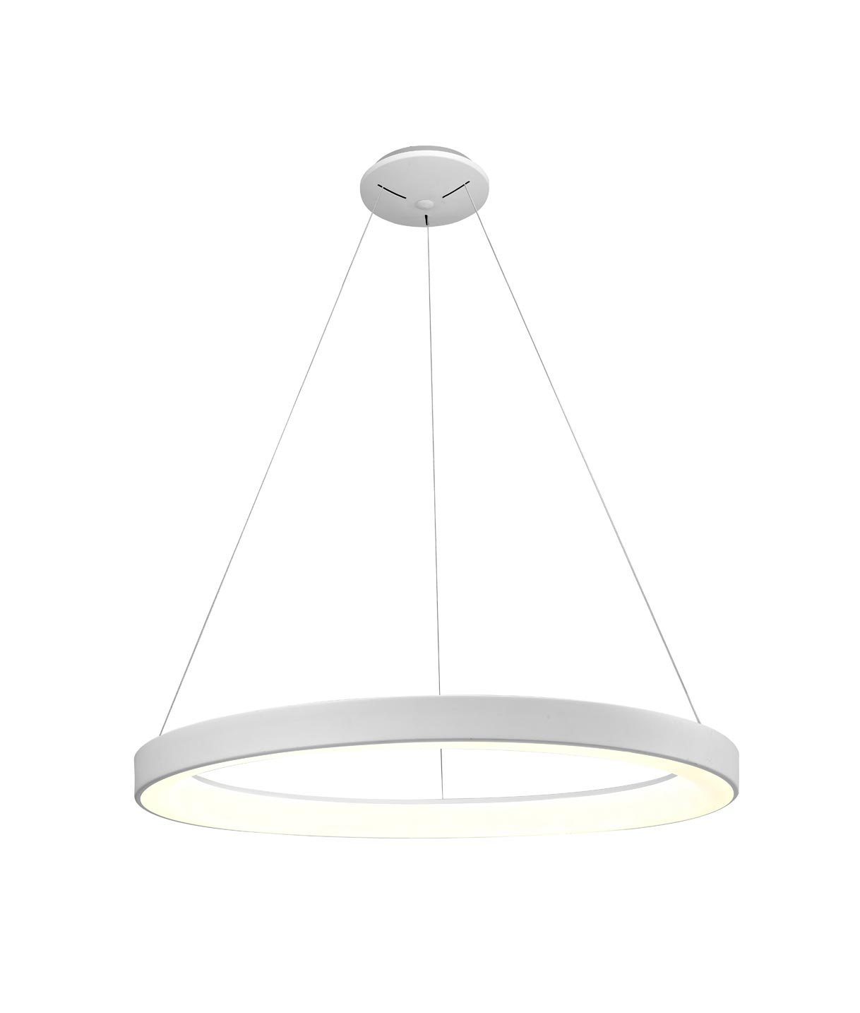 Colgante grande dimmable blanco NISEKO LED