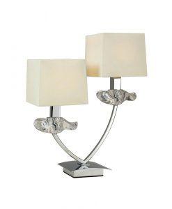 Lámpara aplique 2 luces crema cromo AKIRA