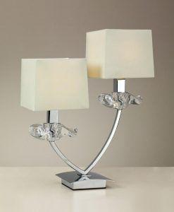 Lámpara aplique 2 luces crema cromo AKIRA detalle