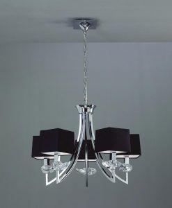 Lámpara colgante sofisticada AKIRA 5 luces