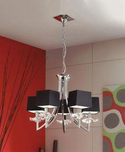Lámpara colgante sofisticada AKIRA 5 luces ambiente