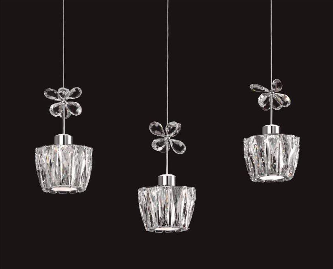 Lámpara lineal 3 luces dimable STRASS LED detalles