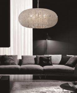 Lámpara ovalada 9 luces CRYSTAL BALLS ambiente