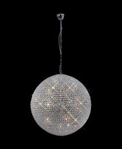 Lámpara techo cristal 18 luces CRYSTAL BALLS