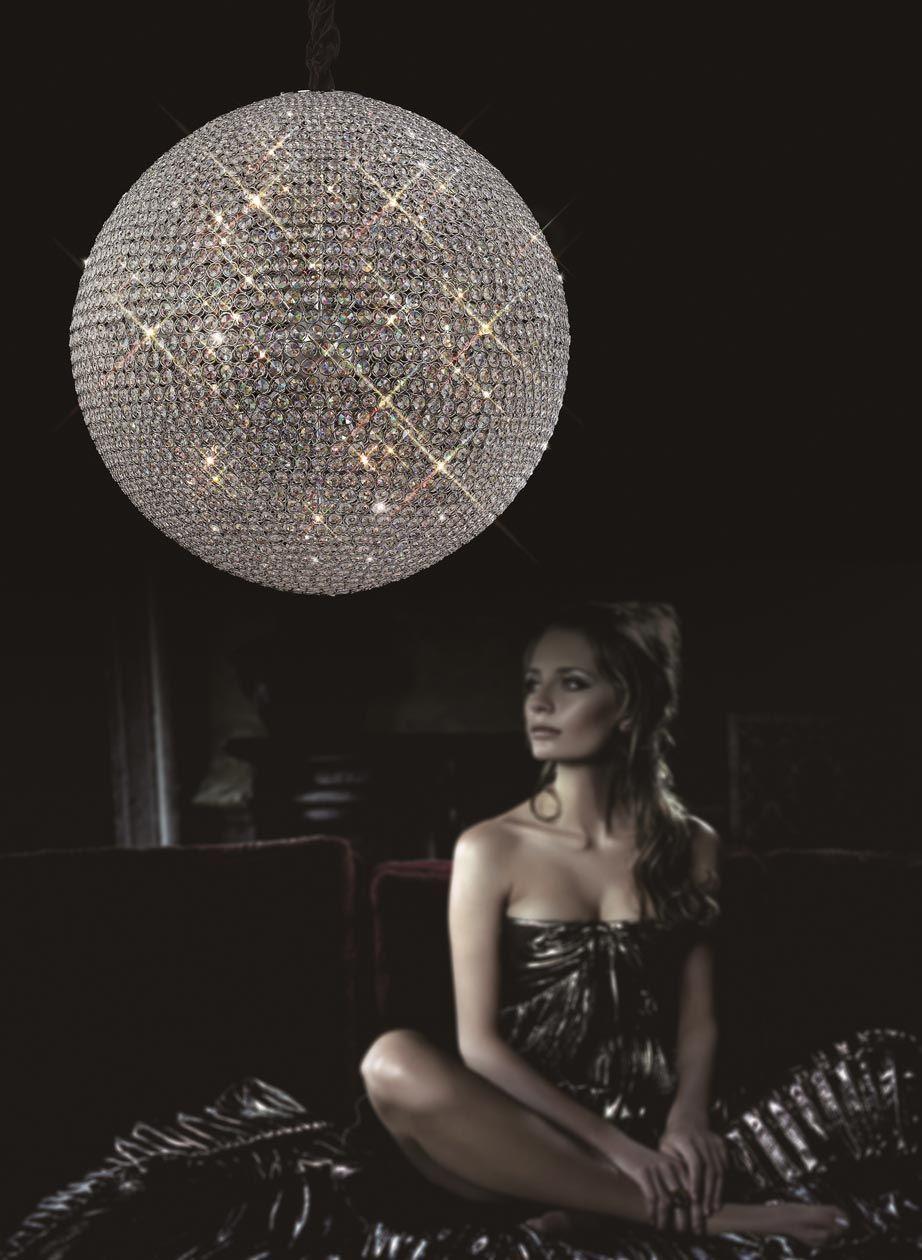 Lámpara techo cristal 18 luces CRYSTAL BALLS ambiente