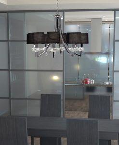 Lámpara techo sofisticada 8 luces AKIRA ambiente