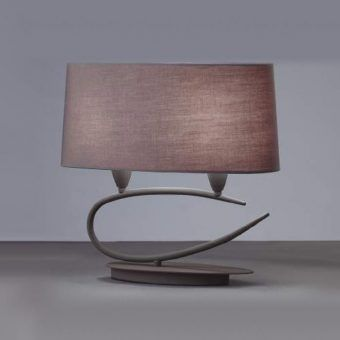Lámparas mesa gris ceniza 2 luces LUA