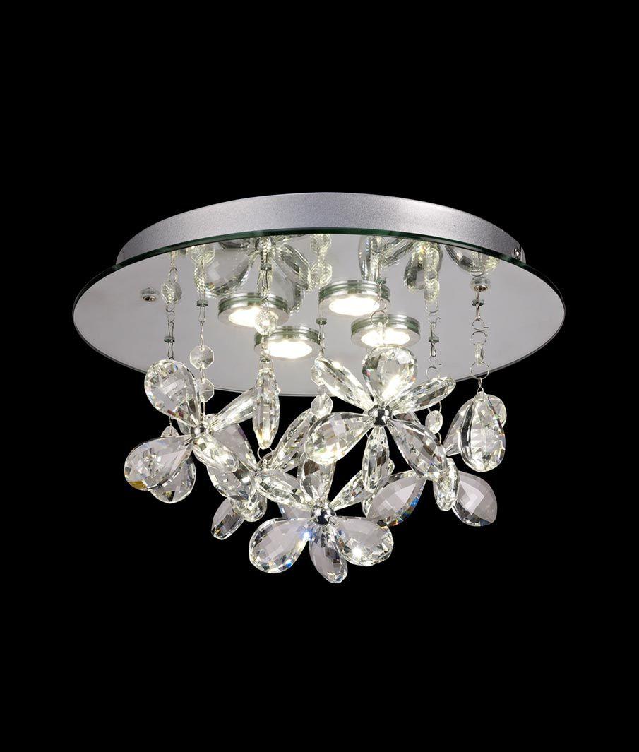 Luminaria circular cristal KAWAI LED detalle