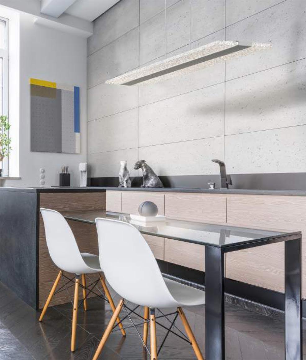 Luminaria interior lineal BURBUJA LED ambiente