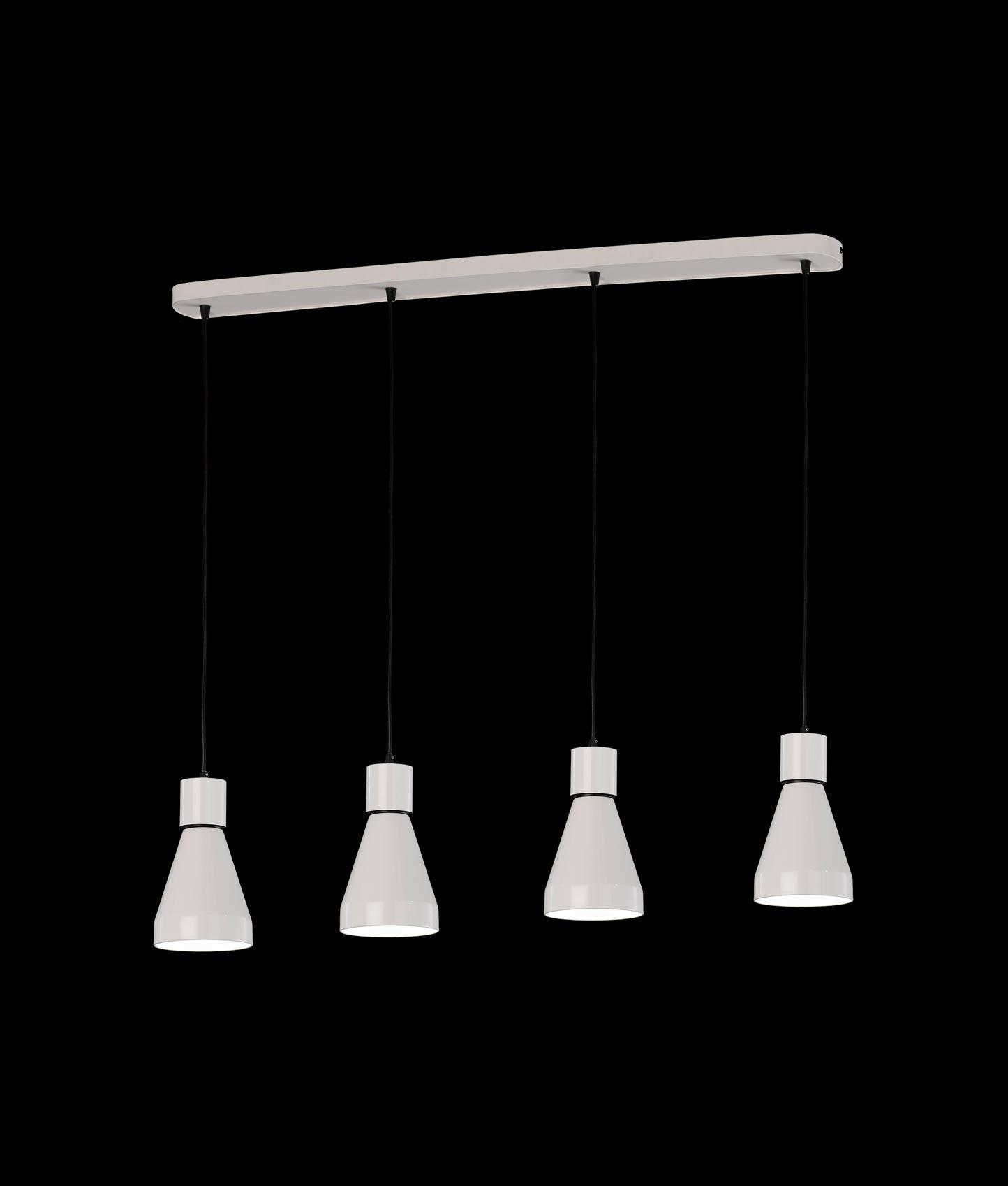 Luminaria lineal 4 luces KOS detalle