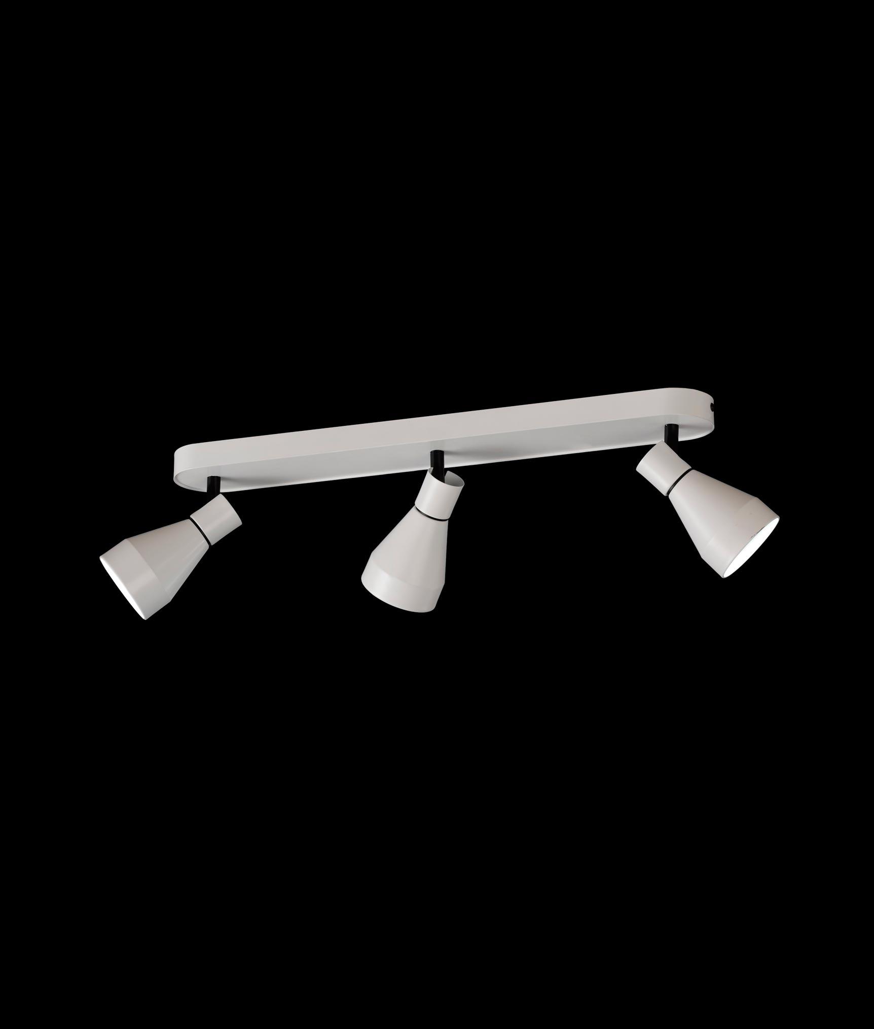 Detalle luminaria regleta 3 luces KOS