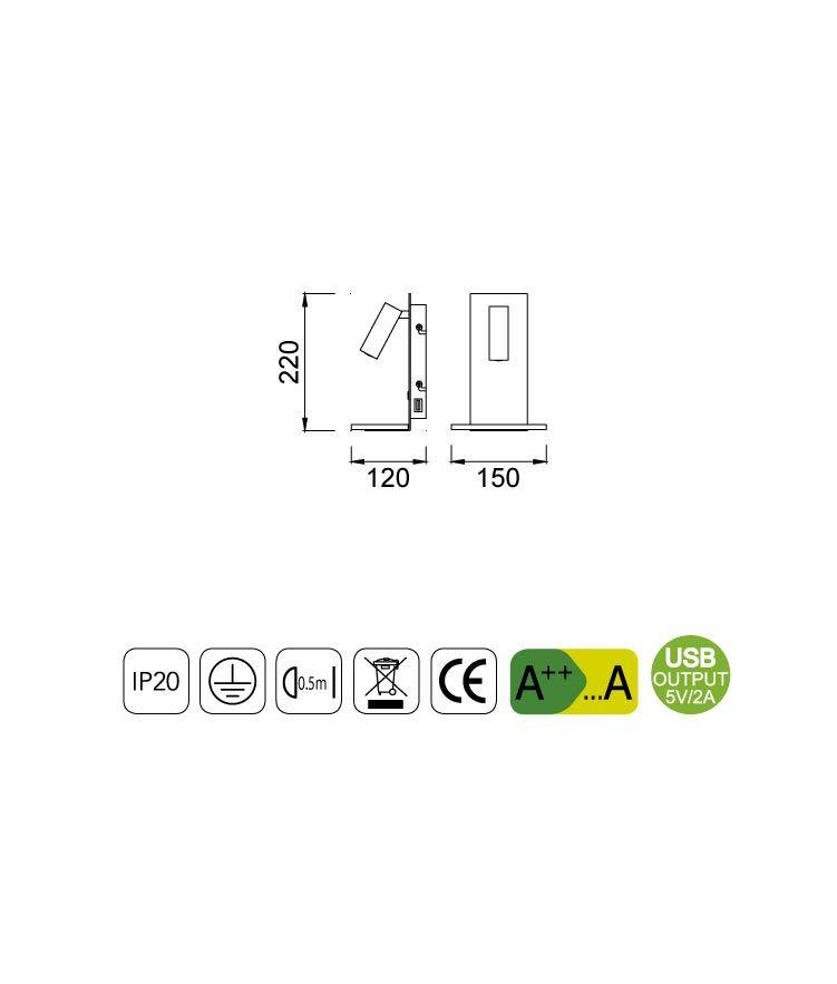 Medidas aplique con USB y lector NORDICA II