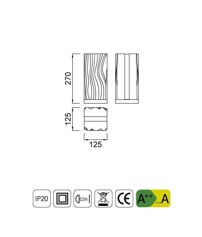 Medidas lámpara de mesa exterior ARENA