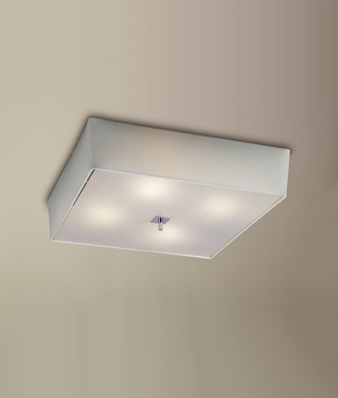 Plafón crema cromo 4 luces AKIRA detalle