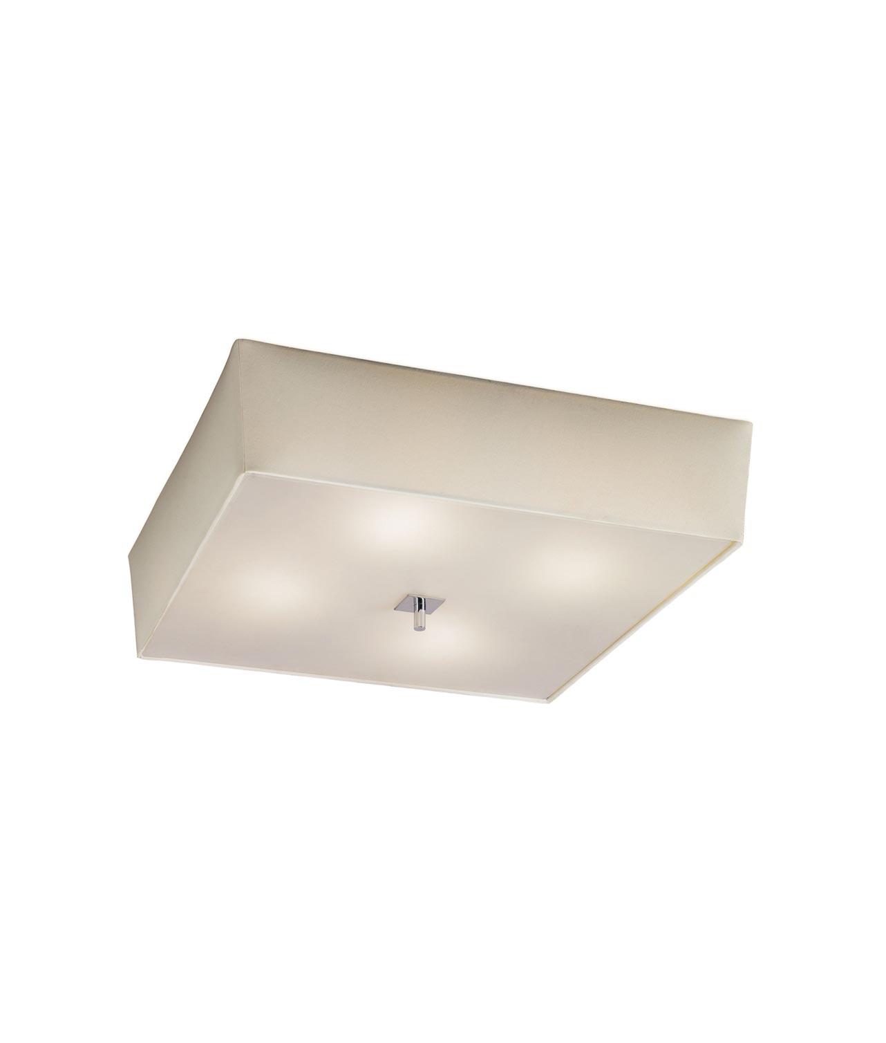 Plafón crema cromo 4 luces AKIRA