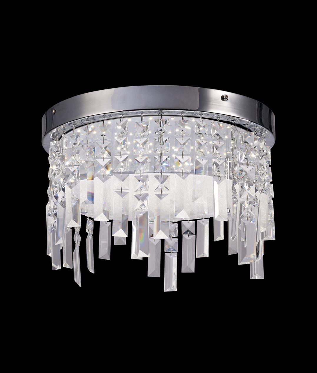 Plafón cristal circular KAWAI LED detalle - La Casa de la Lámpara